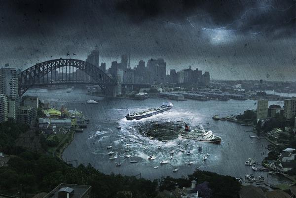 Sydney Harbour Bridge and City on a Rainy Day