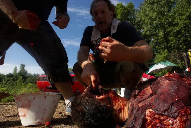 20 fotos curiosas dos bastidores de The Walking Dead (5)