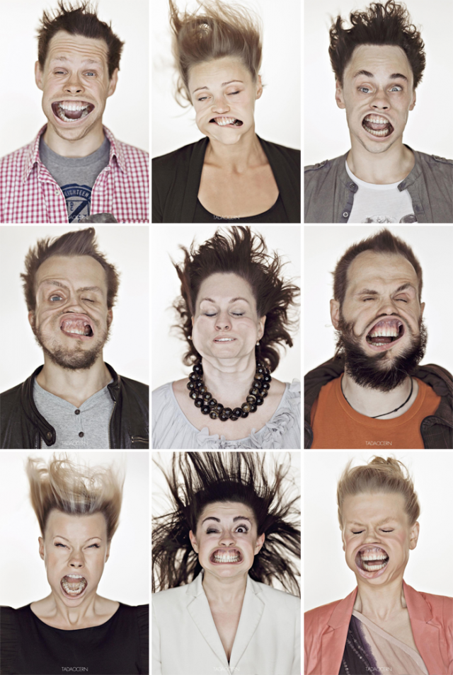 rostos ao vento