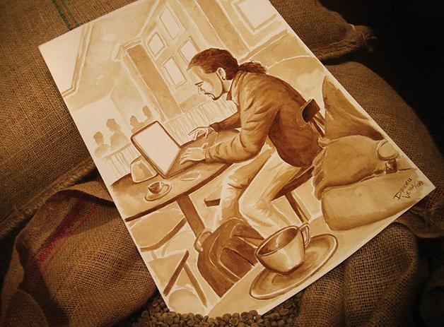 man-working-coffee-art-dirceu-veiga
