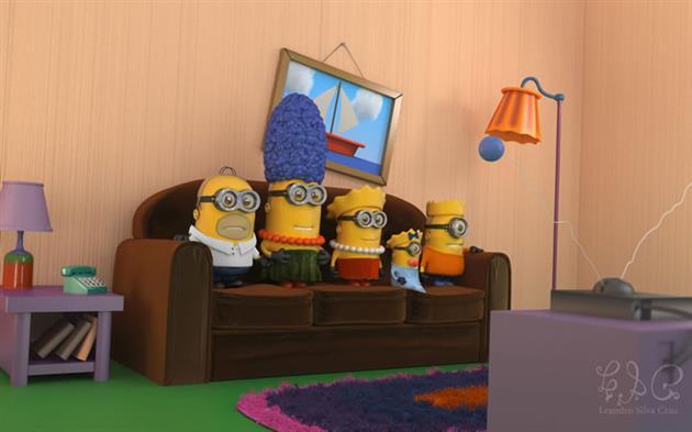 Minions-fantasiados-Simpsons