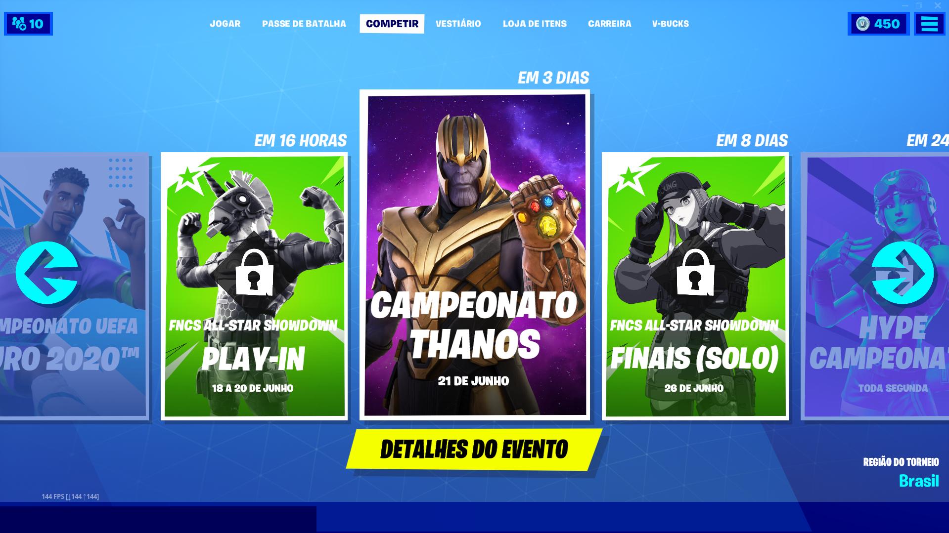 Fortnite Campeonato Thanos